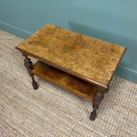 Small Figured Walnut Victorian Antique Coffee Table (3 of 5)