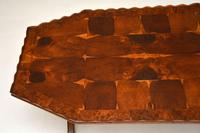 Antique Yew Wood Oyster Veneer Coffee Table (2 of 7)