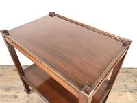Antique Mahogany Two Tier Drinks Trolley or Tea Trolley (7 of 11)