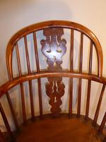 Matched Pair of Yew Windsor Chairs (2 of 13)