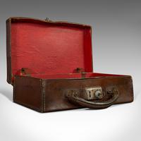 Antique Suitcase, English, Leather, Travelling Sample Case, Edwardian c.1910 (4 of 10)