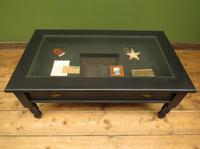 Black Coffee Table with Display Drawer & Glass Top (15 of 18)