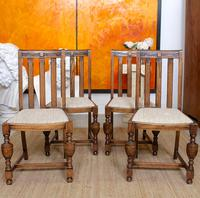 Oak Gateleg Dining Table & 4 Chairs Arts Crafts (2 of 17)