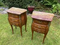 Pair of Marquetry Bedside Tables (2 of 8)