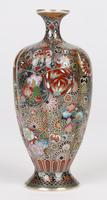 Oriental, Chinese / Japanese Exceptional Silver Metal Cloisonne Vase (19 of 25)