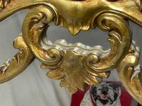 Large French Regency Gilt Pier Glass Acanthus Crown Wall Overmantle Mirror (5 of 13)