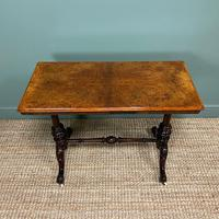 Magnificent Victorian Figured Walnut Antique Centre Table