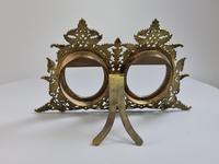 Stunning 19th Century 'Lovegrove & Flint' Double Brass & Turquoise Enamel Frame (3 of 8)