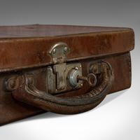 Antique Suitcase, English, Leather, Travelling Sample Case, Edwardian c.1910 (9 of 10)