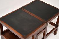 Antique Mahogany & Leather Folding Library Steps / Coffee Table (9 of 11)