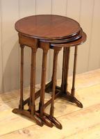 Circular Mahogany Nest of Three Tables (6 of 9)