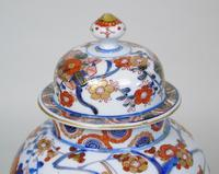 Good Pair of 19th Century Imari Porcelain Lidded Vases on Stands (8 of 10)