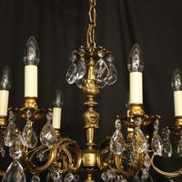 Italian 6 Light Gilded Antique Chandelier (9 of 10)