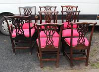 1900s -Set 8 Walnut Georgian style Dining Chairs with Pop out Seats 6+2 (2 of 3)