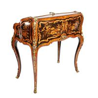 19thc Louis XV Style Marquetry Bureau en Pente (13 of 14)