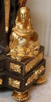 French Louis XVI Style Parcel-Gilt Bronze Mantel Clock (6 of 18)