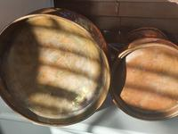 Antique set of 5 x Graduated Copper haystack Jugs Gallon down to Gill (3 of 9)