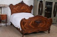 Lovely Quarter Veneer Louis XV Style Double Bed