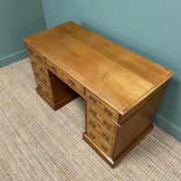 Victorian Walnut Antique Pedestal Desk (7 of 8)
