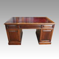 George V Mahogany Pedestal Desk (12 of 13)