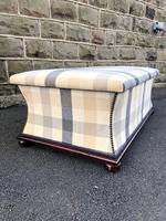 Mahogany Upholstered Sarcophagus Blanket Box (5 of 8)