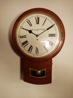 "14"" Mahogany, Elliott, Drop-dial Fusee Wall Clock (2 of 4)"