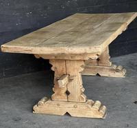 Rustic French Bleached Oak Farmhouse Dining Table (11 of 15)