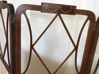 Edwardian Inlaid Mahogany Screen (10 of 13)