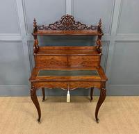 19th Century Plum Pudding Mahogany Bonheur Du Jour (2 of 19)