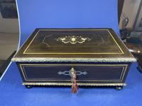 19th Century French  Ebonised Fruitwood Jewellery Box (4 of 18)