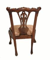 Set of Antique Child Chairs Chippendale Queen Anne (6 of 16)