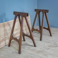 Pine & Oak Trestle Table (8 of 10)