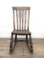 Antique Ash & Elm Rocking Chair (5 of 7)