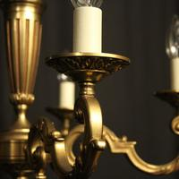 French Gilded Bronze 5 Light Chandelier (4 of 7)