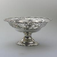 Very Fine Solid Silver Pedestal Pierced Bowl / Basket - Chester c.1937 (2 of 7)