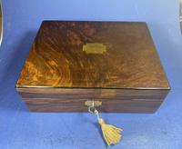 Victorian Walnut Jewellery Box