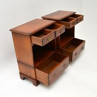 Pair of Antique Georgian Style Burr Walnut Bedside Cabinets (8 of 10)