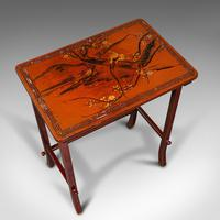 Antique Nest of 3 Occasional Side Tables, Oriental, Japanned, Victorian c.1900 (9 of 12)