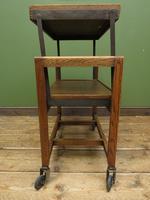 Vintage Metamorphic Oak Tea Trolley Table by Besway (12 of 18)