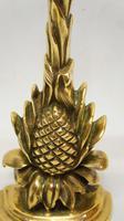 """Victorian  13"""" brass door stop,  door porter - Pineapple (5 of 9)"""