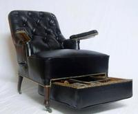 French Second Empire Rosewood & Leather Reclining Chair (2 of 8)
