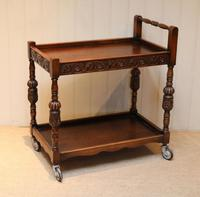 Carved Oak Trolley (7 of 10)