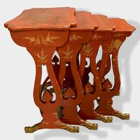 Crutsy Nest of 4 Chinese Red Lacquered Tables (4 of 13)