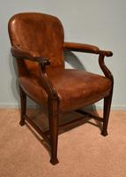 Desk Chair / Armchair Mahogany Leather 19th Century (3 of 6)