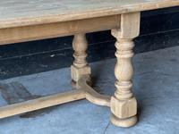 French Bleached Oak Refectory Farmhouse Dining Table (8 of 26)