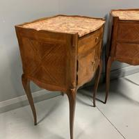 Pair of French Marble Top Bedside Cabinets (3 of 6)