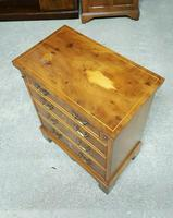 Reprodux Bevan Funnell Yew Wood Bachelor's Chest (4 of 7)