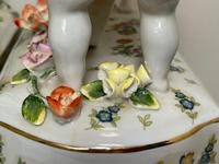 Pair of Small Dresden Victorian Style Porcelain Cherub Table Mirrors (28 of 60)