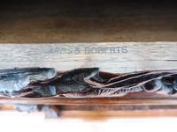 Oak Edwards & Roberts Breakfront Bookcase 7ft 6 Length 4 Drawer (9 of 15)