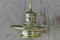 Fine 19th Century Brass Inkwell in the Bright Pavilion Style (7 of 7)